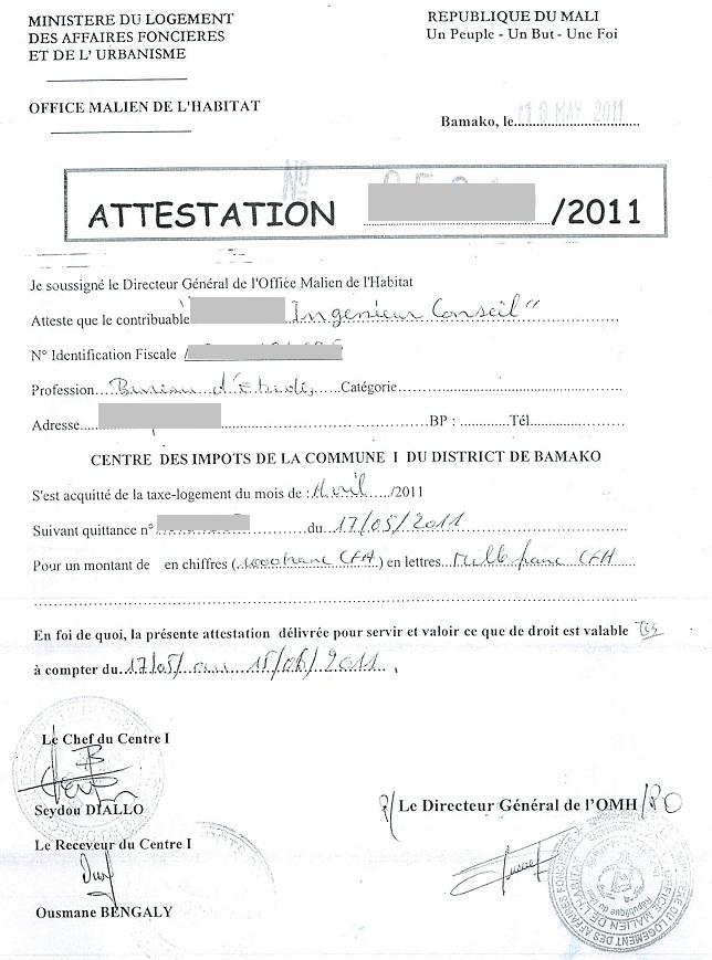 attestation assurance habitation