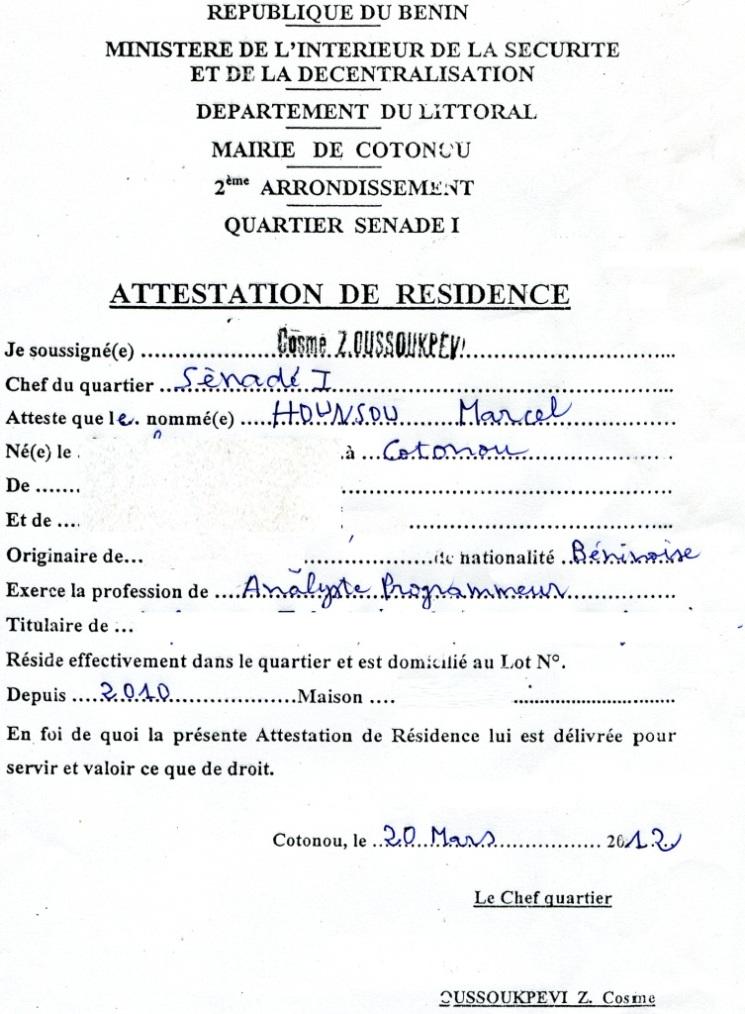 resiliation contrat habitation