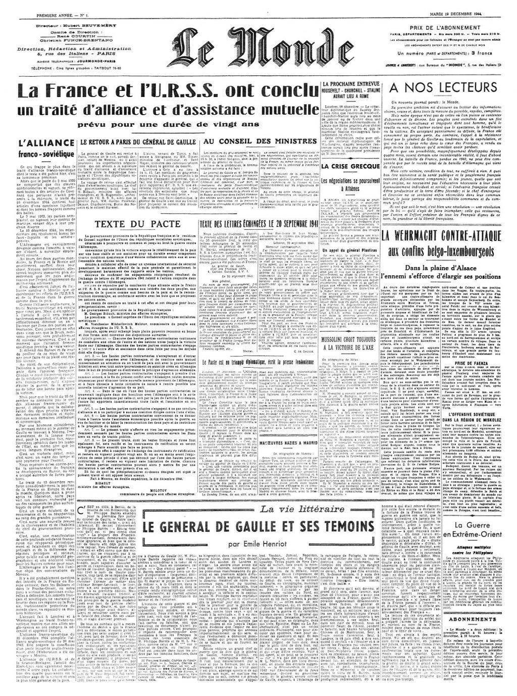 le monde journal papier
