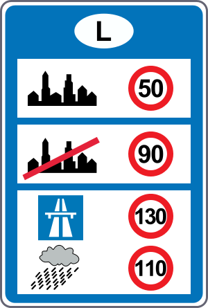 limitations de vitesse en france