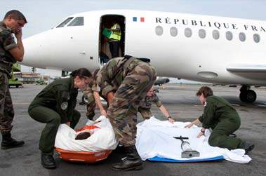 rapatriement sanitaire avion