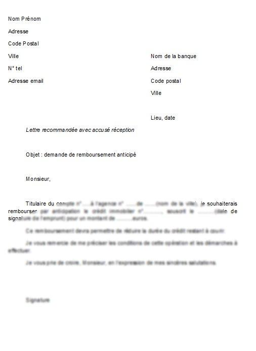 lettre demande de prêt bancaire